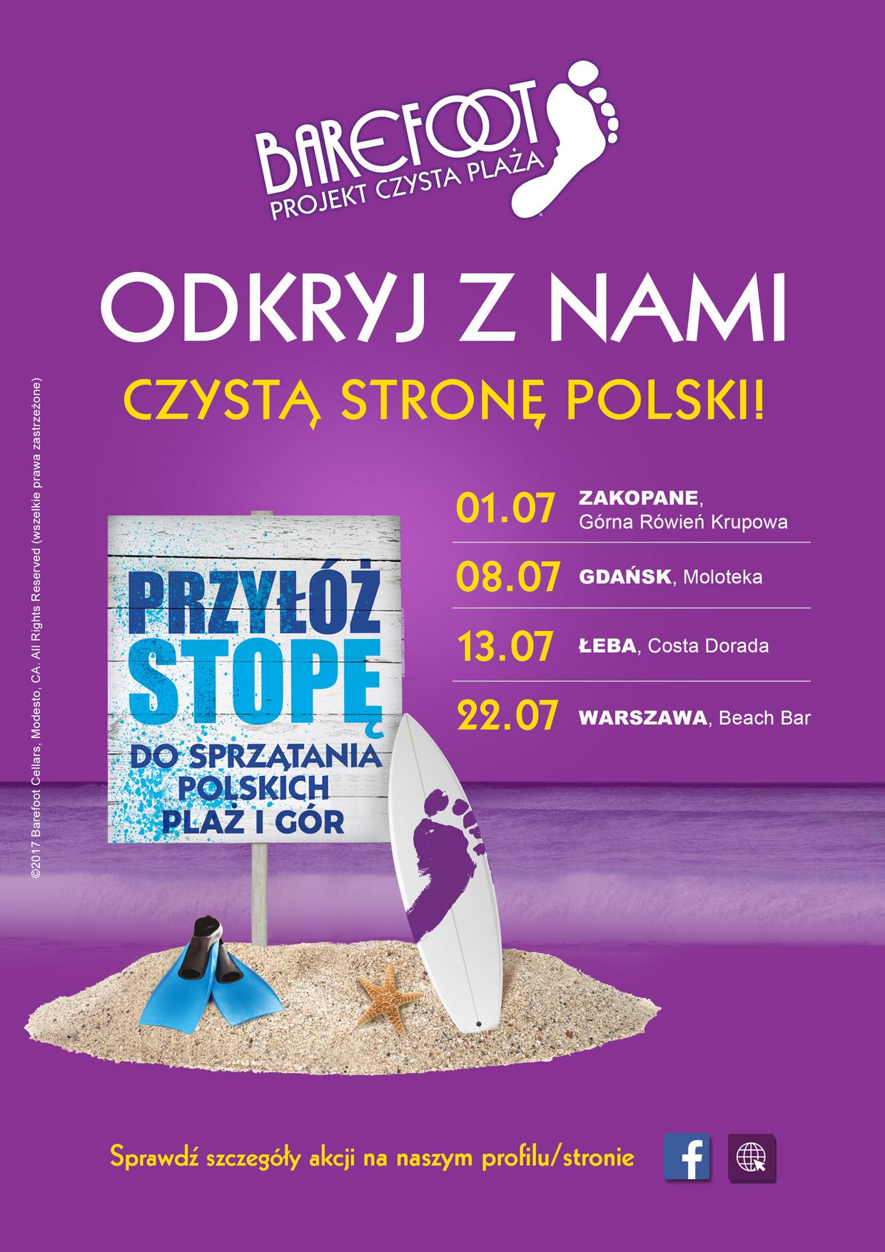 Pozostaw tylko ślady bosych stóp! 1 lipca rozpocznie się cykl akcji wielkiego sprzątania Polski – od Tatr aż po Bałtyk